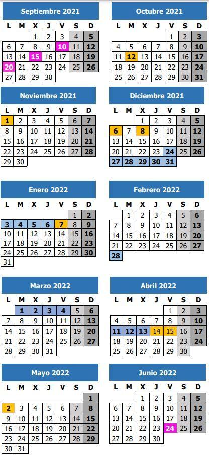 Calendario lectivo del curso 2021/2022 en la provincia de Málaga