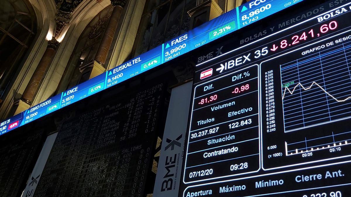 La Bolsa española cae el 0,75 % arrastrada por los grandes valores