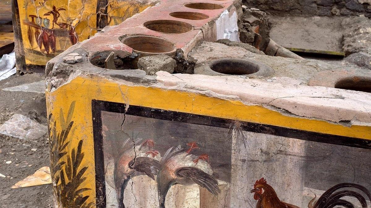 Descubren un 'take away' en Pompeya