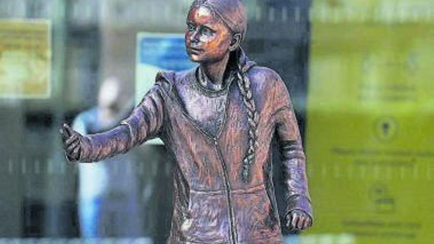 Una estatua de 28.000 euros para recordar a Greta Thunberg
