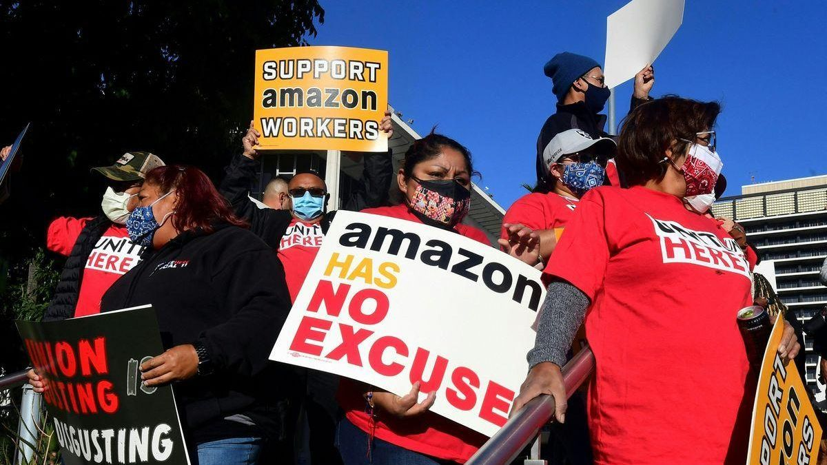 Biden apoya la histórica votación sindical a la que Amazon se opone con uñas y dientes