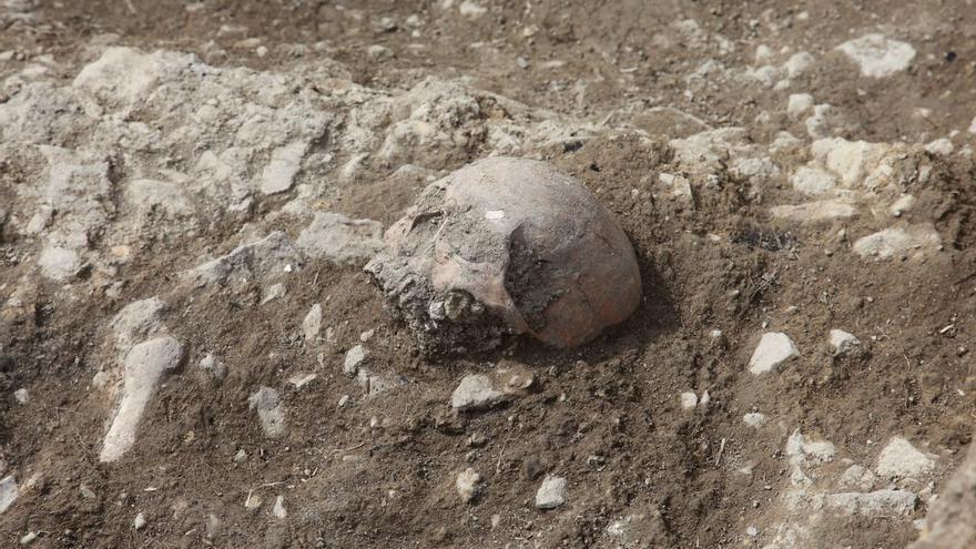Localizan restos de inhumaciones en las nuevas excavaciones de Portell