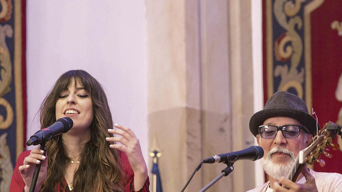 Marisa Valle Roso y Vaudí Cavalcanti, en los conciertos de la Cátedra, durante el pasado mes de abril.