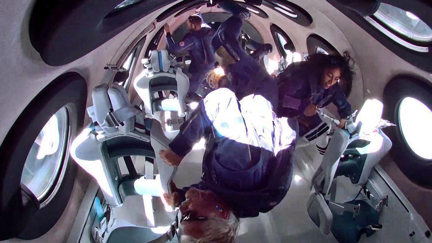 Richard Branson alcanza su sueño espacial