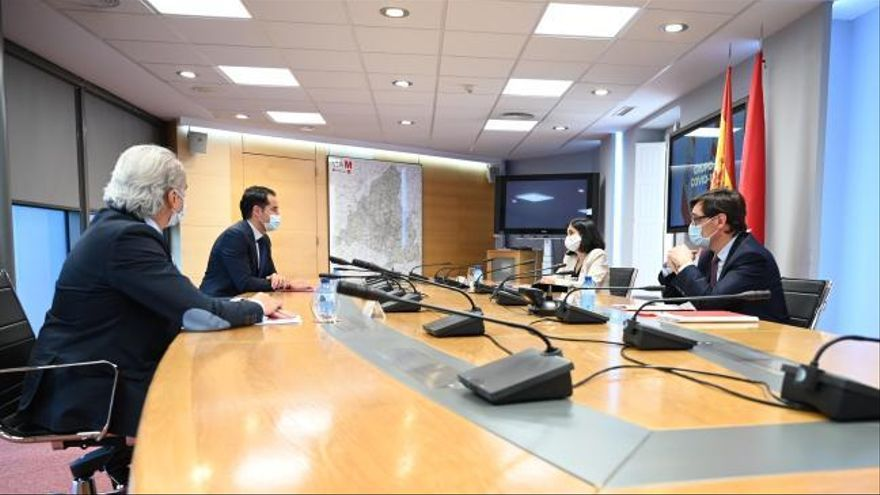 Primera reunión del Grupo Covid-19 entre la Comunidad de Madrid y el Gobierno de España