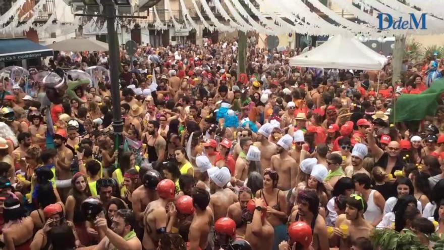 Bunyola celebra la Correguda en roba interior, la carrera más descarada