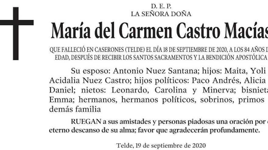María del Carmen Castro Macías