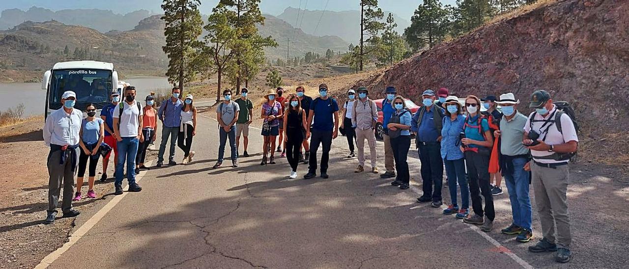 Visita de los ingenieros de la Demarcación de Las Palmas a las presas de Chira y Soria.     LP/DLP