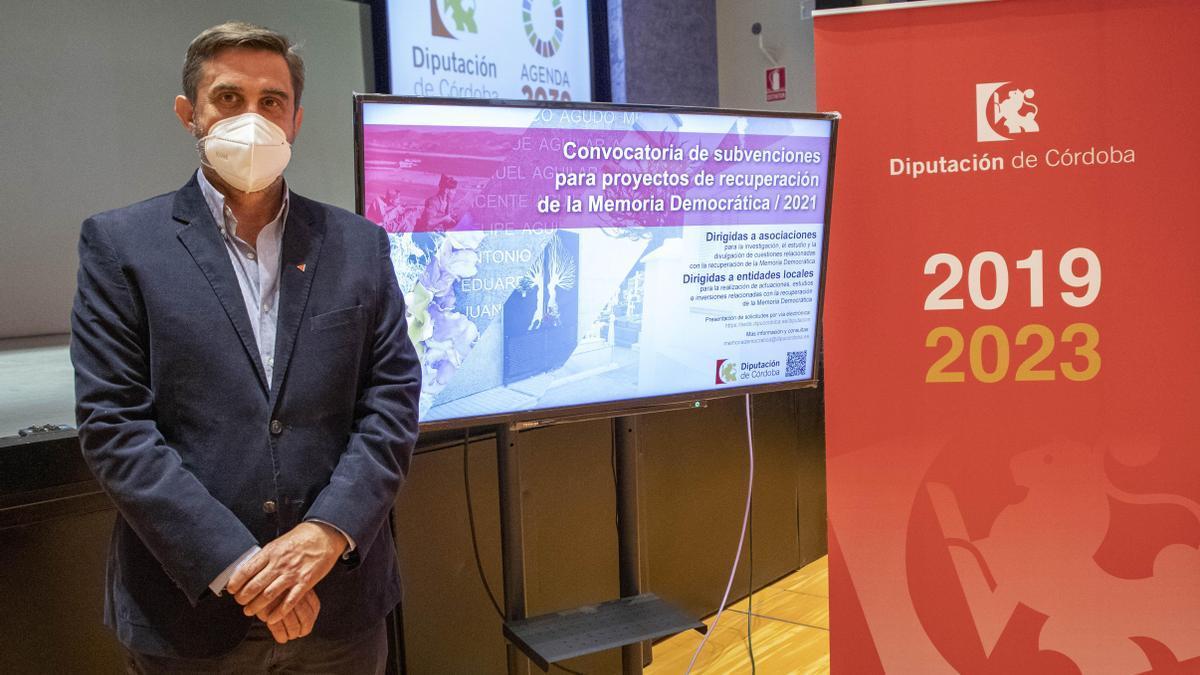 Ramón Hernández, delegado de Memoria Democrática de la Diputación provincial de Córdoba.