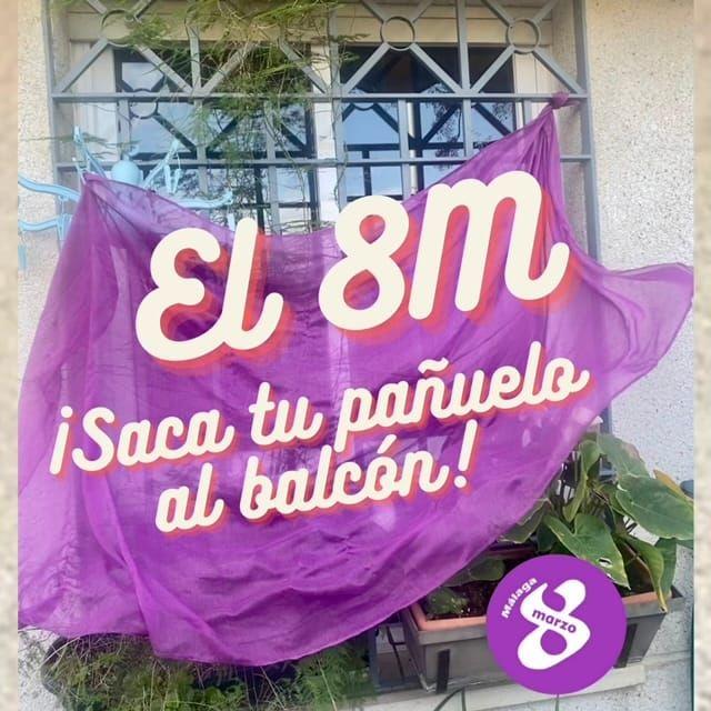 Imagen que se está difundiendo para promover la acción en los balcones por parte de las feministas.