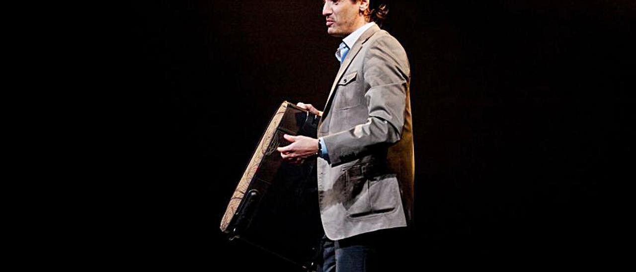 Juan Diego Botto, durante una representación. | Ricardo Solís