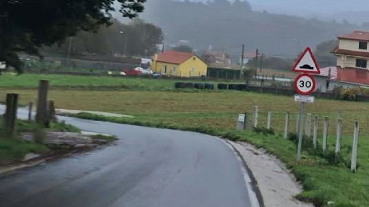 Limitación de velocidad en Taboada.