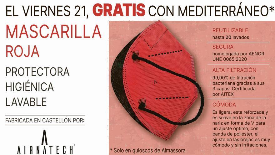 'Mediterráneo' regala a sus lectores la mascarilla roja de Santa Quitèria