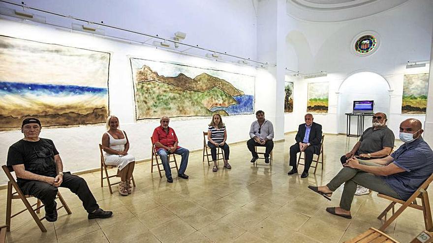 Pep Maür-Serra relee el paisaje mallorquín en la sala capitular de La Cartoixa de Valldemossa