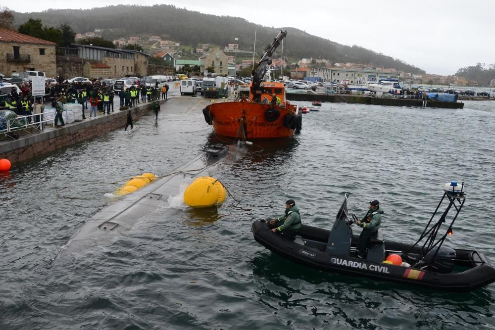 El narcosubmarino de Aldán abre la escotilla