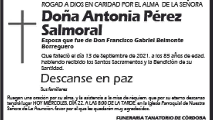 Antonia Pérez Salmoral