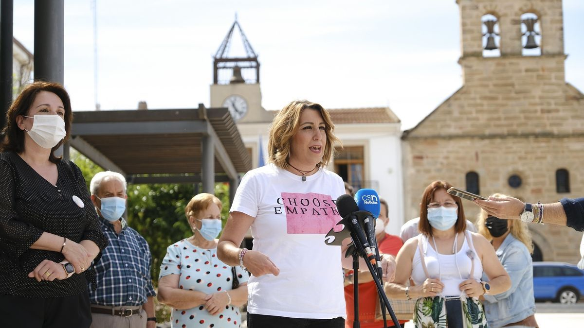 La candidata en las elecciones primarias del PSOE andaluz, Susana Díaz.