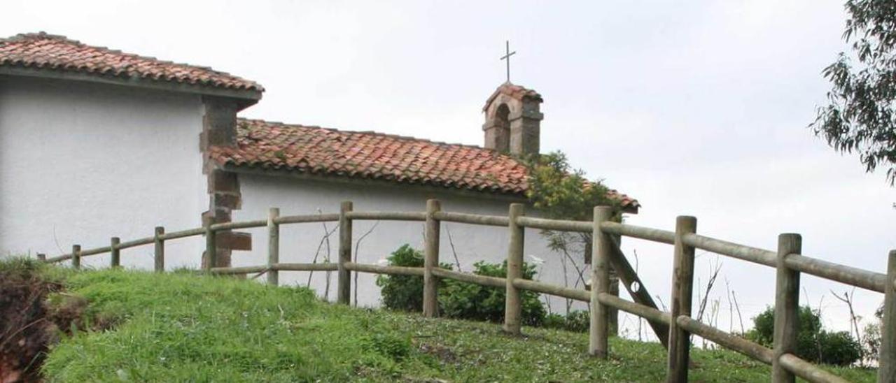 La capilla de San Antonio, antes de ser desmontada.