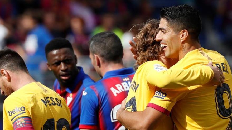 El 'trident' dona el triomf al Barça (0-3)