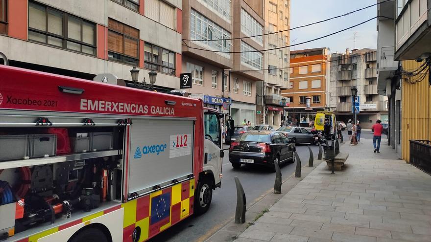 Un herido leve tras el choque entre un turismo y una moto en Lalín