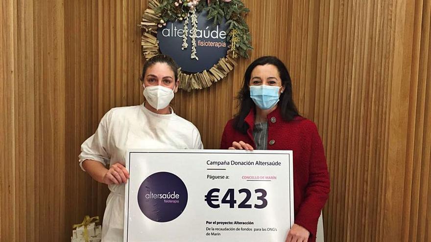 Alter Saúde entrega al Concello de Marín el dinero recaudado para las ONG en su campaña solidaria