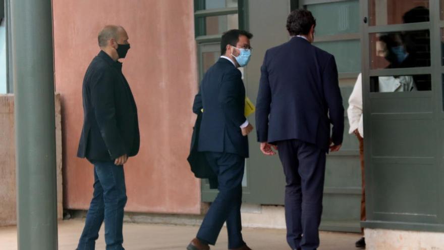 ERC i JxCat confirmen que han abordat «per primera vegada» l'estructura de Govern a la reunió a Lledoners
