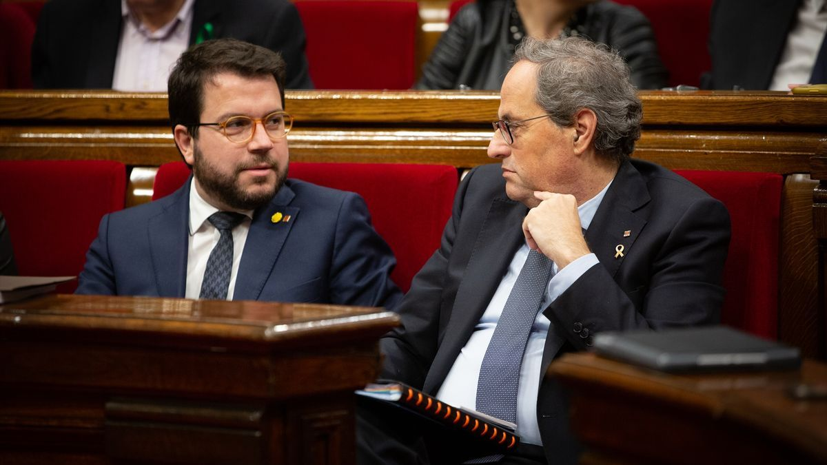 Pere Aragonès y Quim Torra.