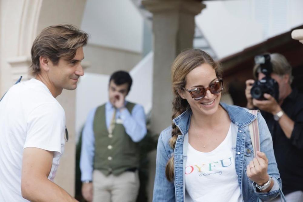 El extenista David Ferrer y su mujer Marta Tornel.