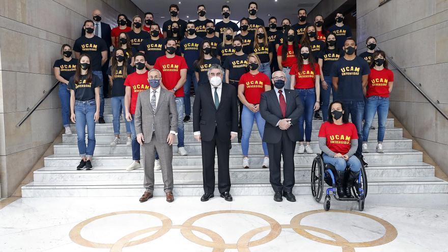 La UCAM presenta a sus nuevos deportistas en el COE