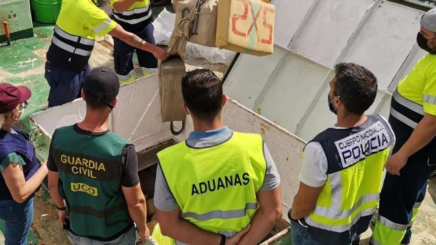 El 'Odyssey', con 22.115 kilos, se convierte en el mayor alijo de hachís interceptado en Canarias