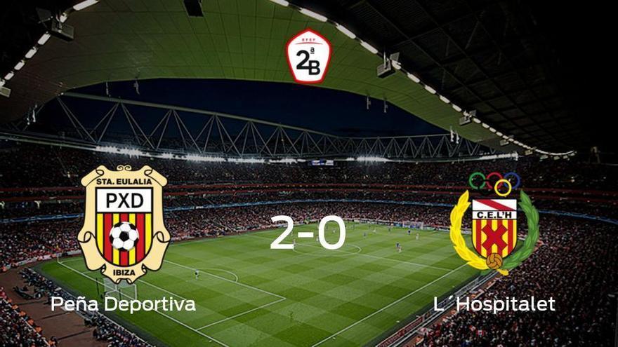 La Peña Deportiva suma tres puntos tras vencer 2-0 al L´Hospitalet