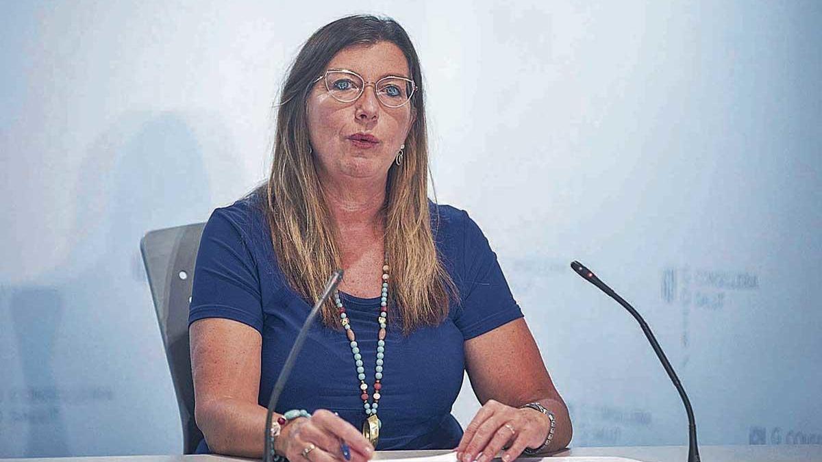 La consellera Patricia Gómez, en rueda de prensa ayer.