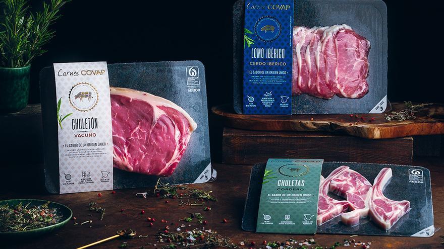 Covap comienza a comercializar una nueva gama de carne fresca de cerdo ibérico, vacuno y cordero de ganado de Los Pedroches