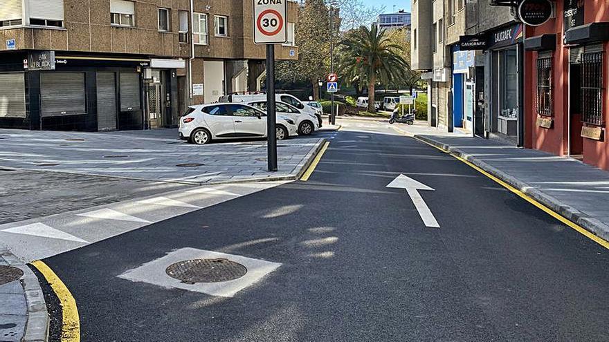 Completada la renovación de las calles Celso Emilio Ferreiro y Párroco Manuel Cobas en O Temple