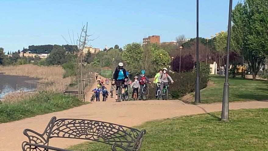 Suerte de Saavedra se sube a la bici