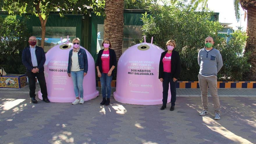 Jumilla 'Recicla vidrio por ellas', con motivo del Día contra el Cáncer de Mama