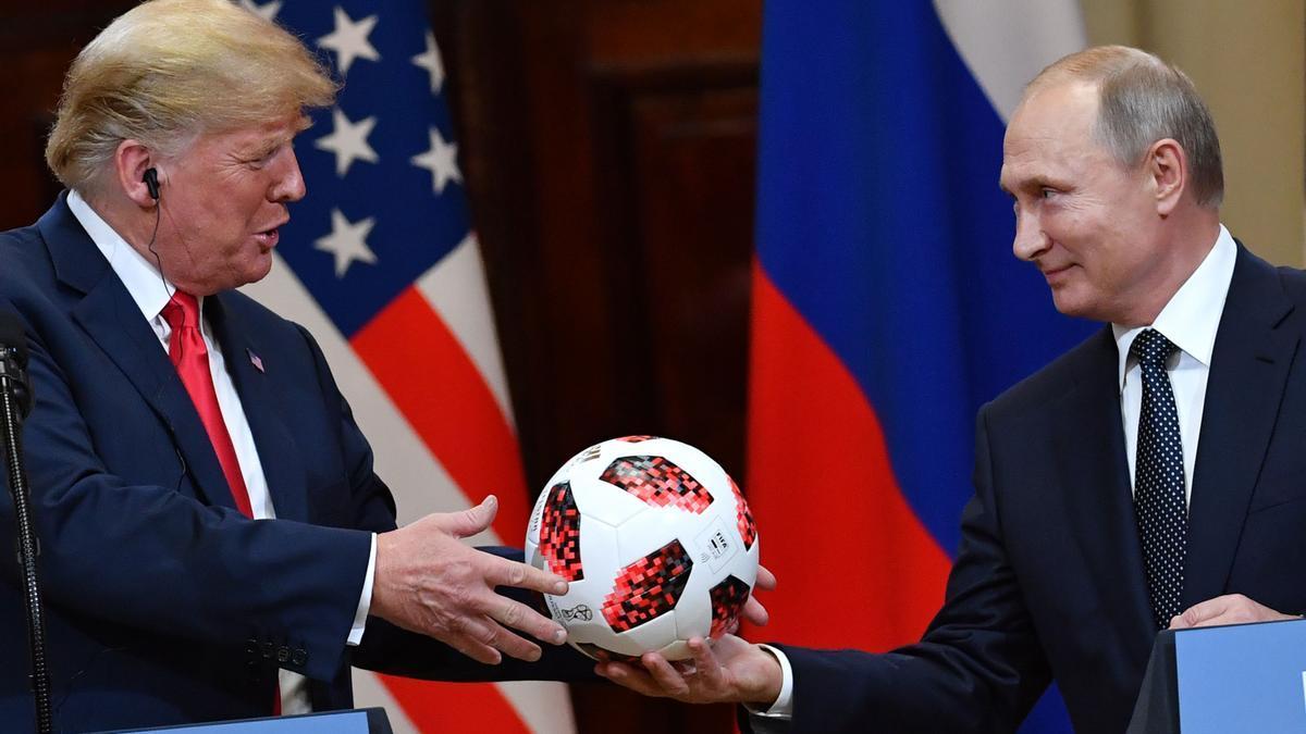Trump y Putin, en una imagen de 2018 en Moscú.