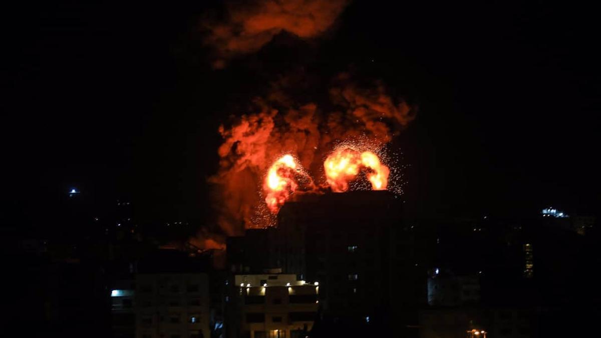 Israel's bombing of the Gaza Strip.