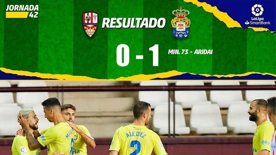Vídeos del gol y resumen del partido UD Logroñés 0 - 1 UD Las Palmas