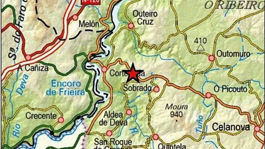 Nueve terremotos agitan Ourense en las últimas horas