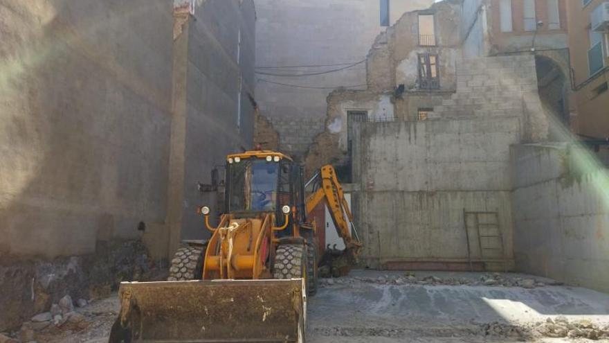 Comienzan las obras de la segunda planta del párking de la calle Chorrío de Caspe