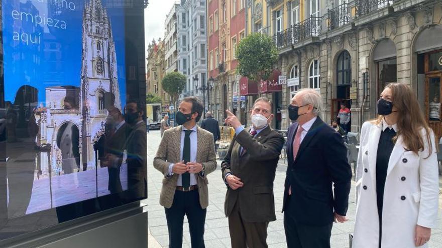 Oviedo estrena cinco paneles digitales en los que se publicarán avisos municipales