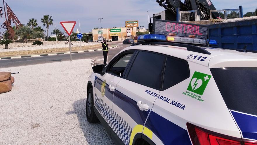 La Policía de Xàbia realiza un alud de servicios: 177 el fin de semana
