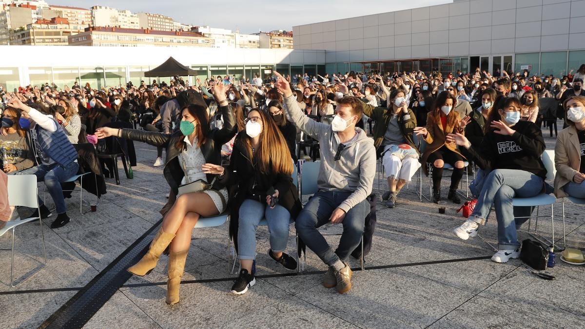 Público asistente a uno de los conciertos del festival Terraceo.