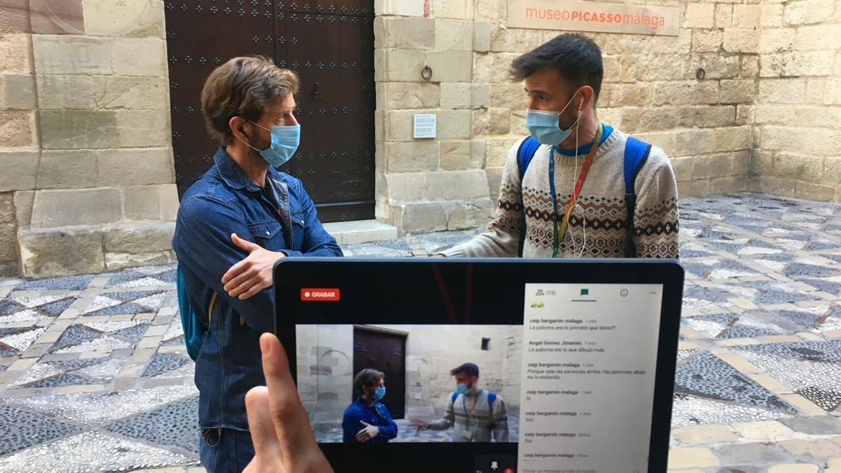 Una de las visitas virtuales retransmitidas en directo por Explora Málaga.