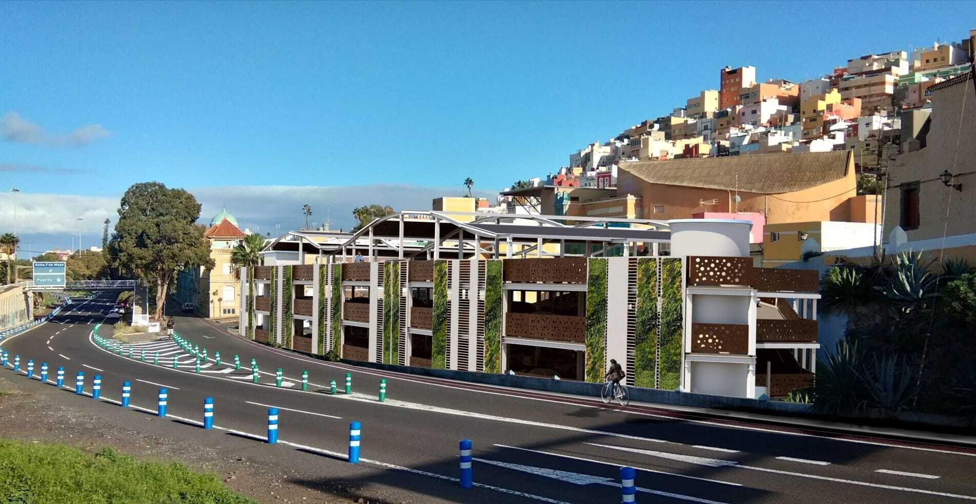 Nuevo aparcamiento en Vegueta