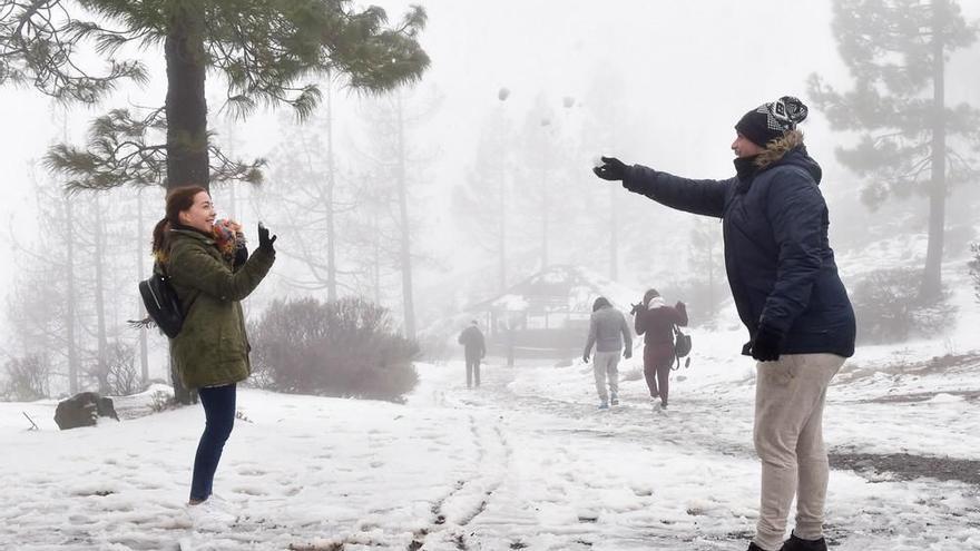 Alerta por nevadas en Gran Canaria