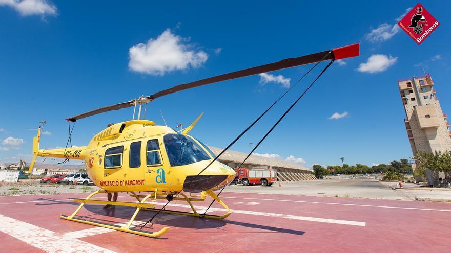El Consorcio Provincial de Bomberos refuerza su servicio estival con un segundo helicóptero