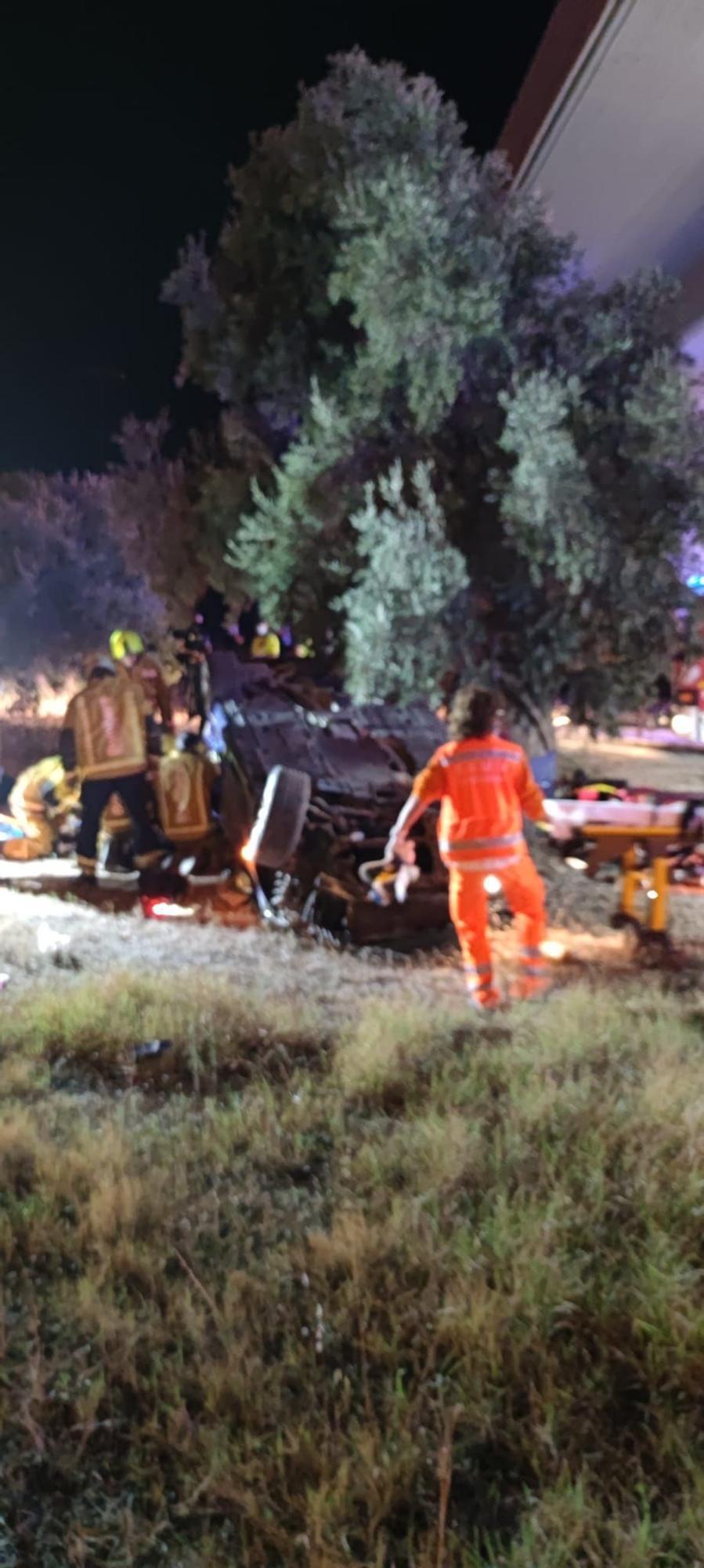 Accidente en la rotonda de la Universidad de Alicante