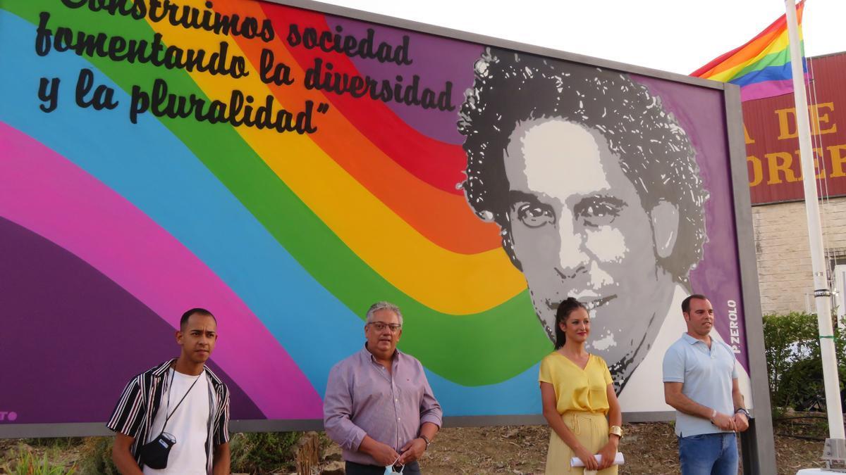Inauguración del mural a Pedro Zerolo, el año pasado.
